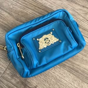 JUICY COUTURE Blue Nylon Makeup/Cosmetic Bag